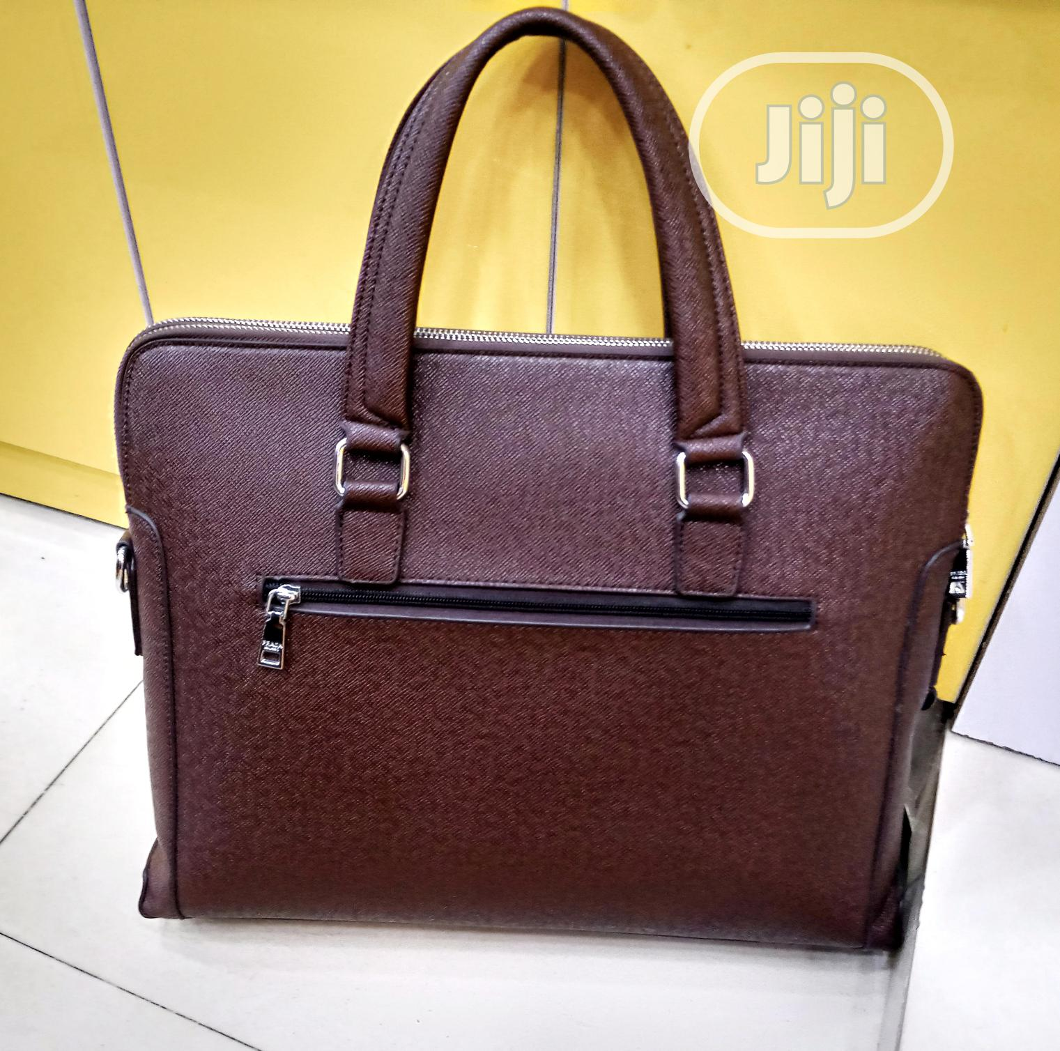 Brown Leather Prada Designer Mens Handbag | Bags for sale in Lagos Island, Lagos State, Nigeria