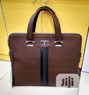 Brown Leather Prada Designer Mens Handbag | Bags for sale in Lagos State, Lagos Island