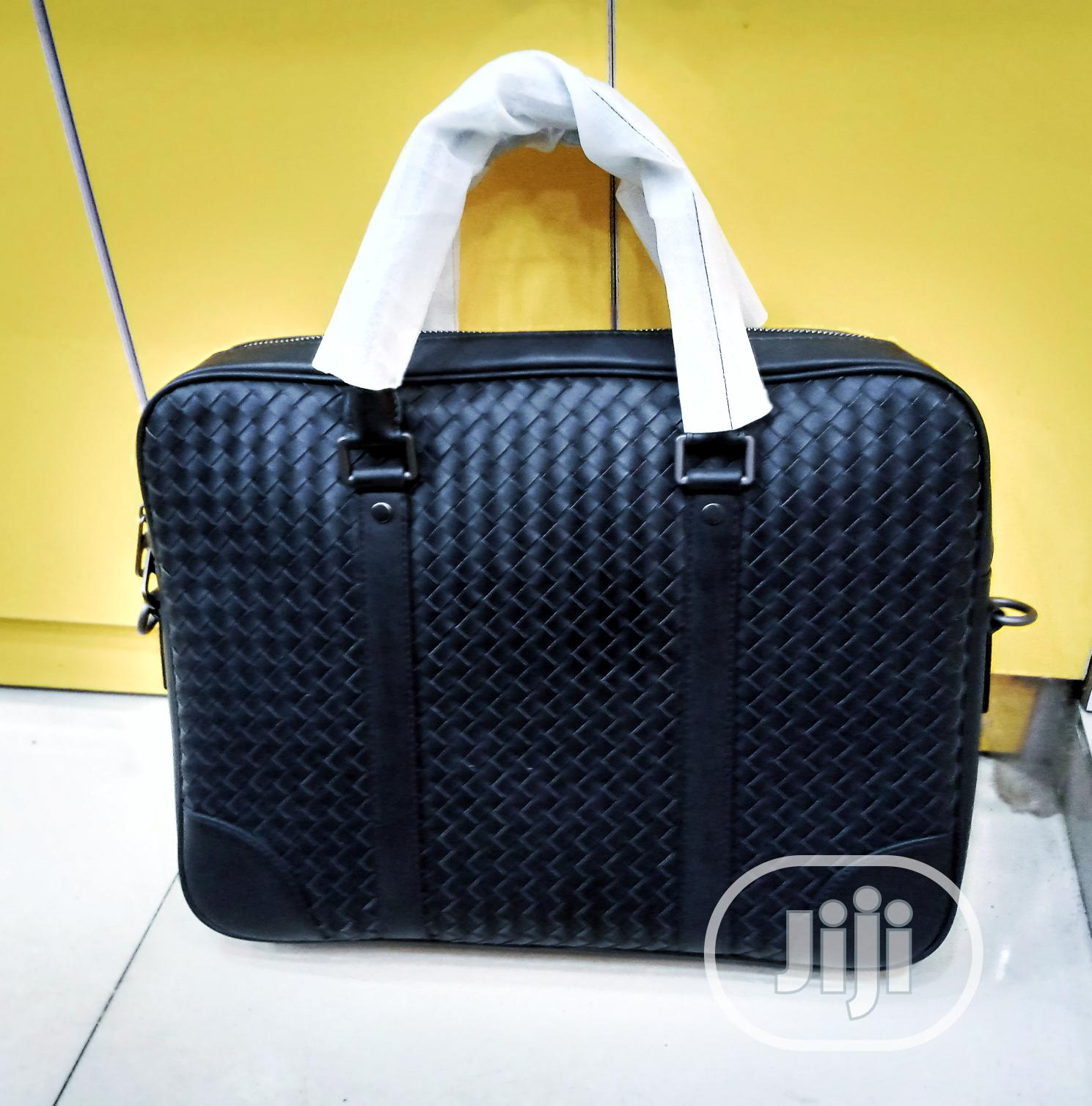 Black Leather Mens Laptop Bag | Bags for sale in Lagos Island, Lagos State, Nigeria