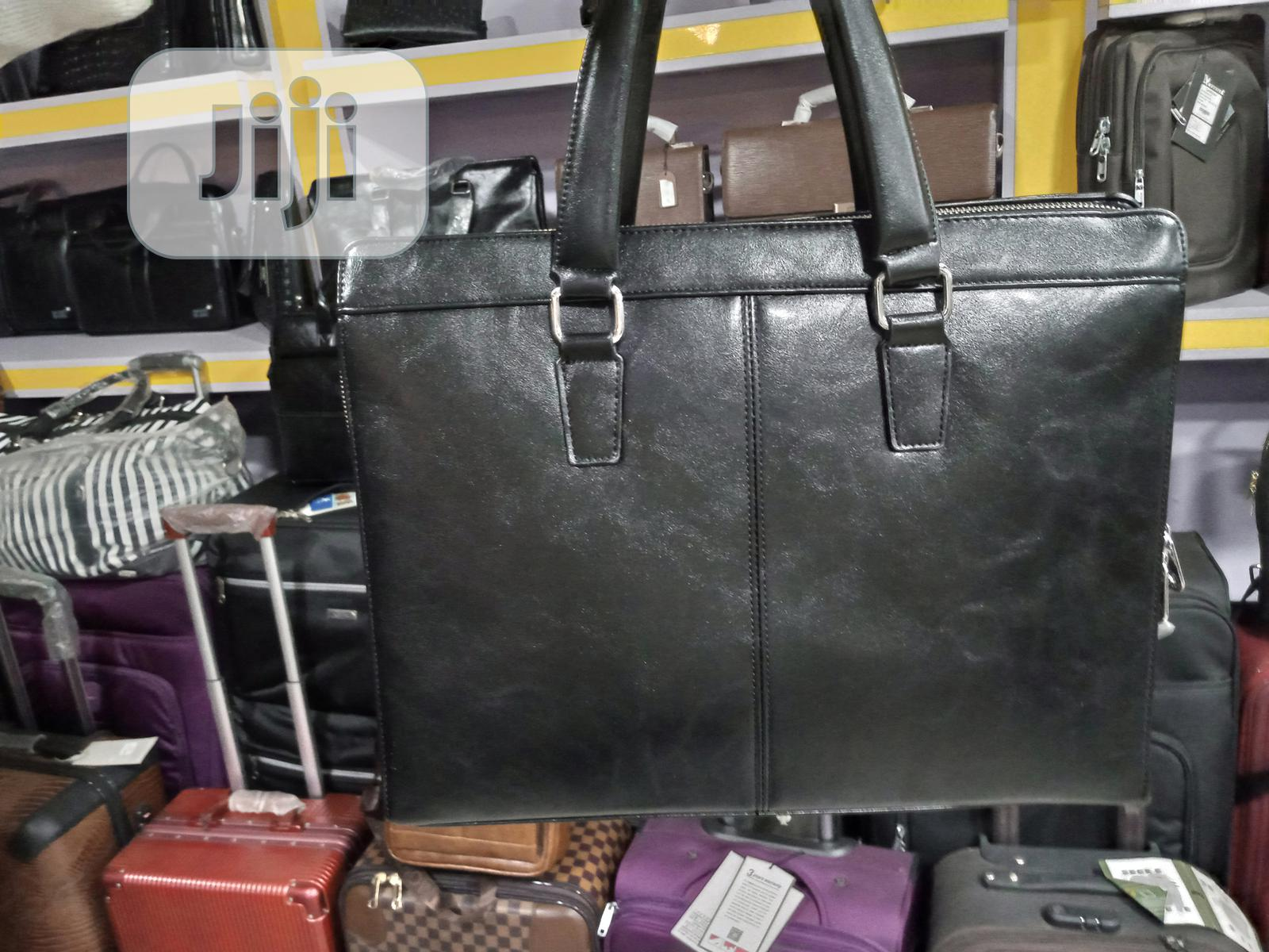 17 Inch Mont Blanc Leather Laptop Bag