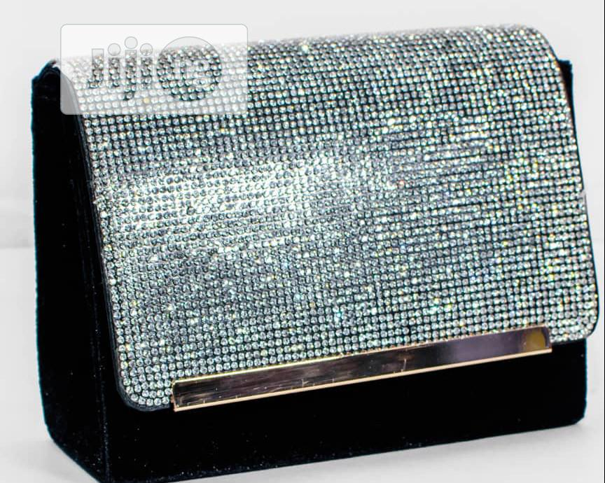 Black And Silver Clutch | Bags for sale in Ojodu, Lagos State, Nigeria
