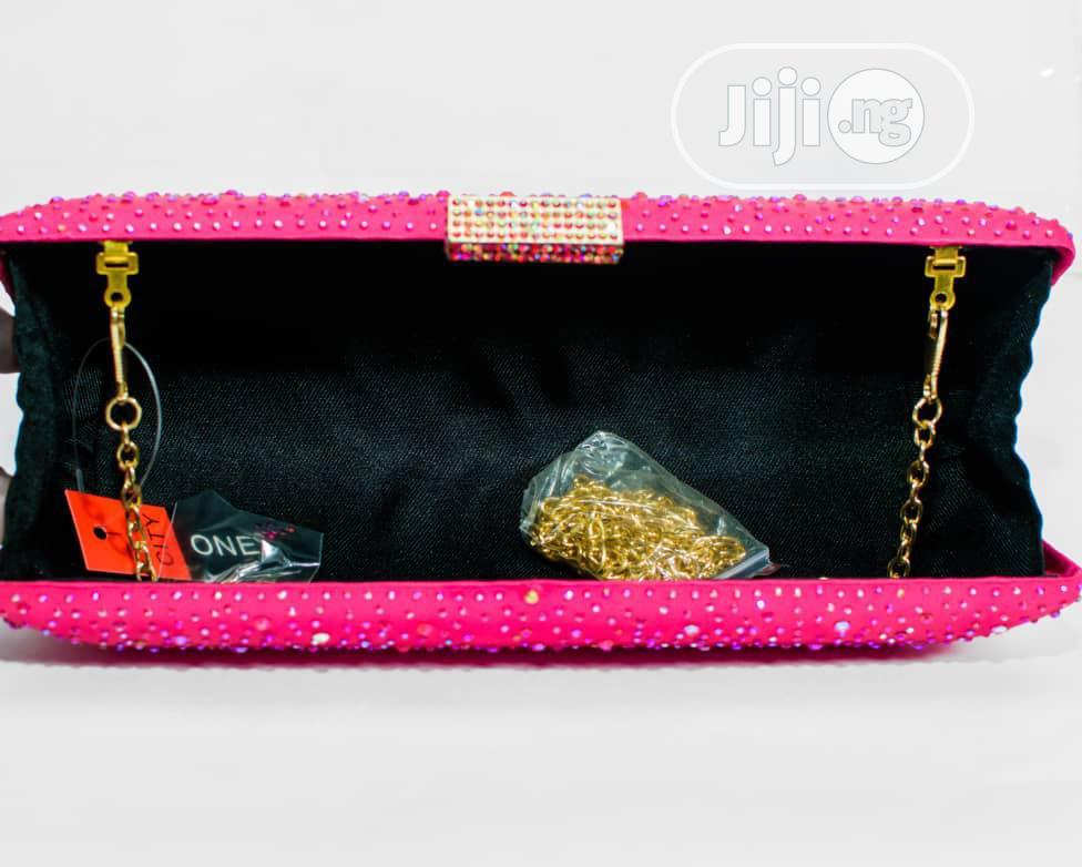 Pink Clutch Purse | Bags for sale in Ojodu, Lagos State, Nigeria