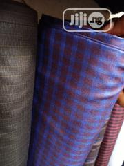 Blue Cotton Senator Fabric Material X2 Free Cufflink   Clothing for sale in Lagos State, Ikoyi
