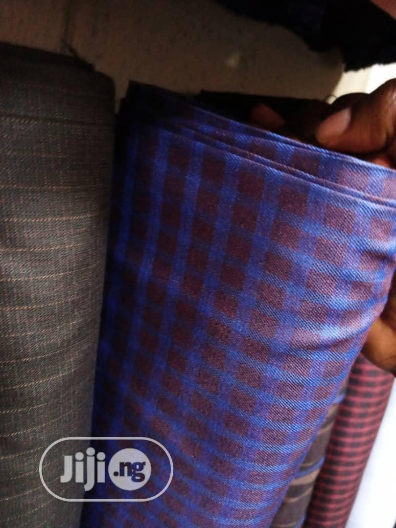 Archive: Blue Cotton Senator Fabric Material X2 Free Cufflink