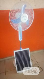 16'rechargeable AC/DC Fan With 20 Watt Solar Panel | Solar Energy for sale in Kwara State, Ilorin East