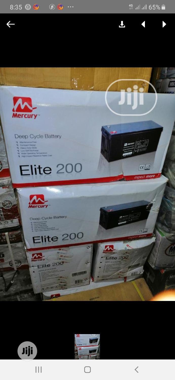 12V 200AH Mercury Solar Battery