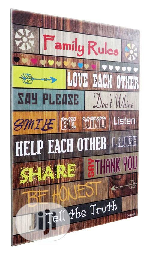 Inspirational Wall Plaque [12 X 25 Inches]