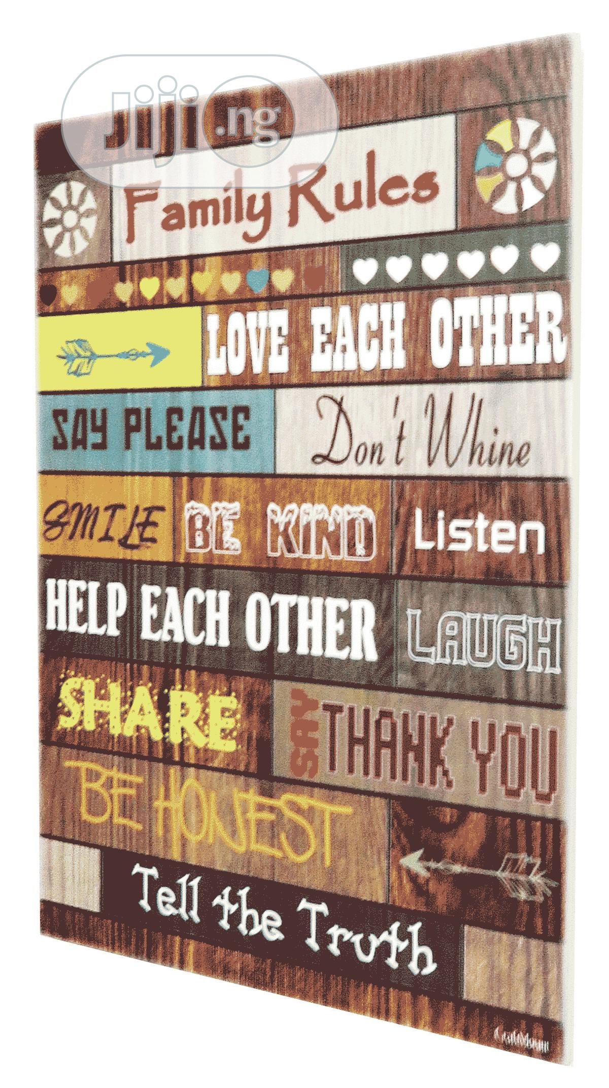 Inspirational Wall Plaque [12 X 25 Inches] | Home Accessories for sale in Ibeju, Lagos State, Nigeria