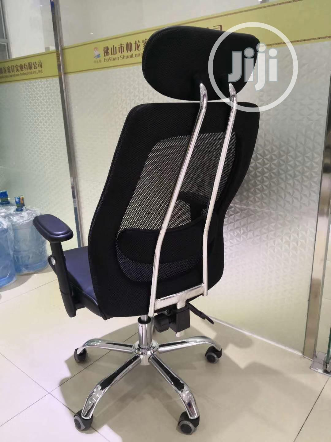 Picture of: Net And Leather Office Swivel Chair In Wuse Furniture Osita Chukwuma Jiji Ng For Sale In Wuse Buy Furniture From Osita Chukwuma On Jiji Ng
