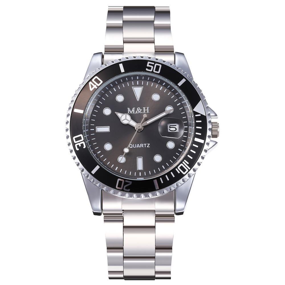 M & H Watch Men Stainless Steel Waterproof Luminous. | Watches for sale in Ikorodu, Lagos State, Nigeria