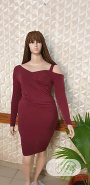 Wine Colour Lycra Gown | Clothing for sale in Lagos State, Shomolu
