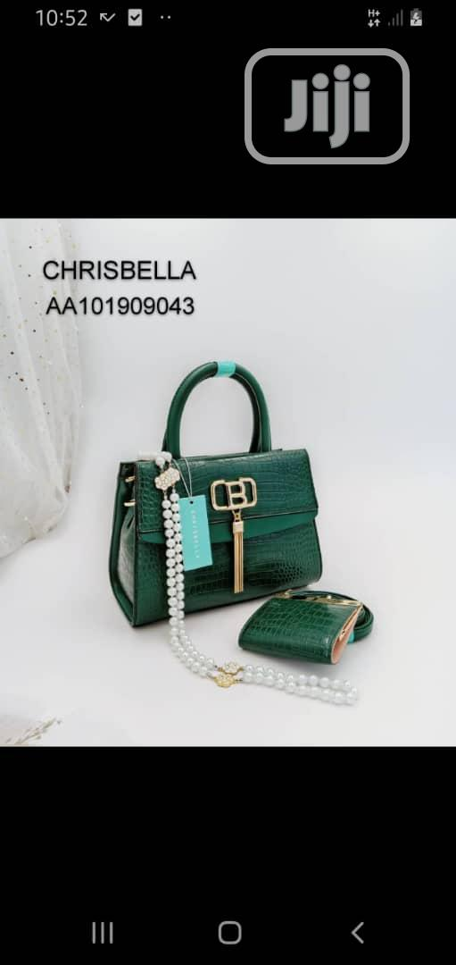 New Ladies Green Leather Handbag