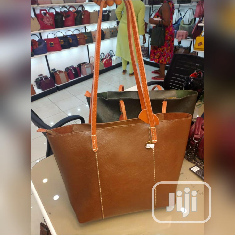 2 in One Leather Handbag