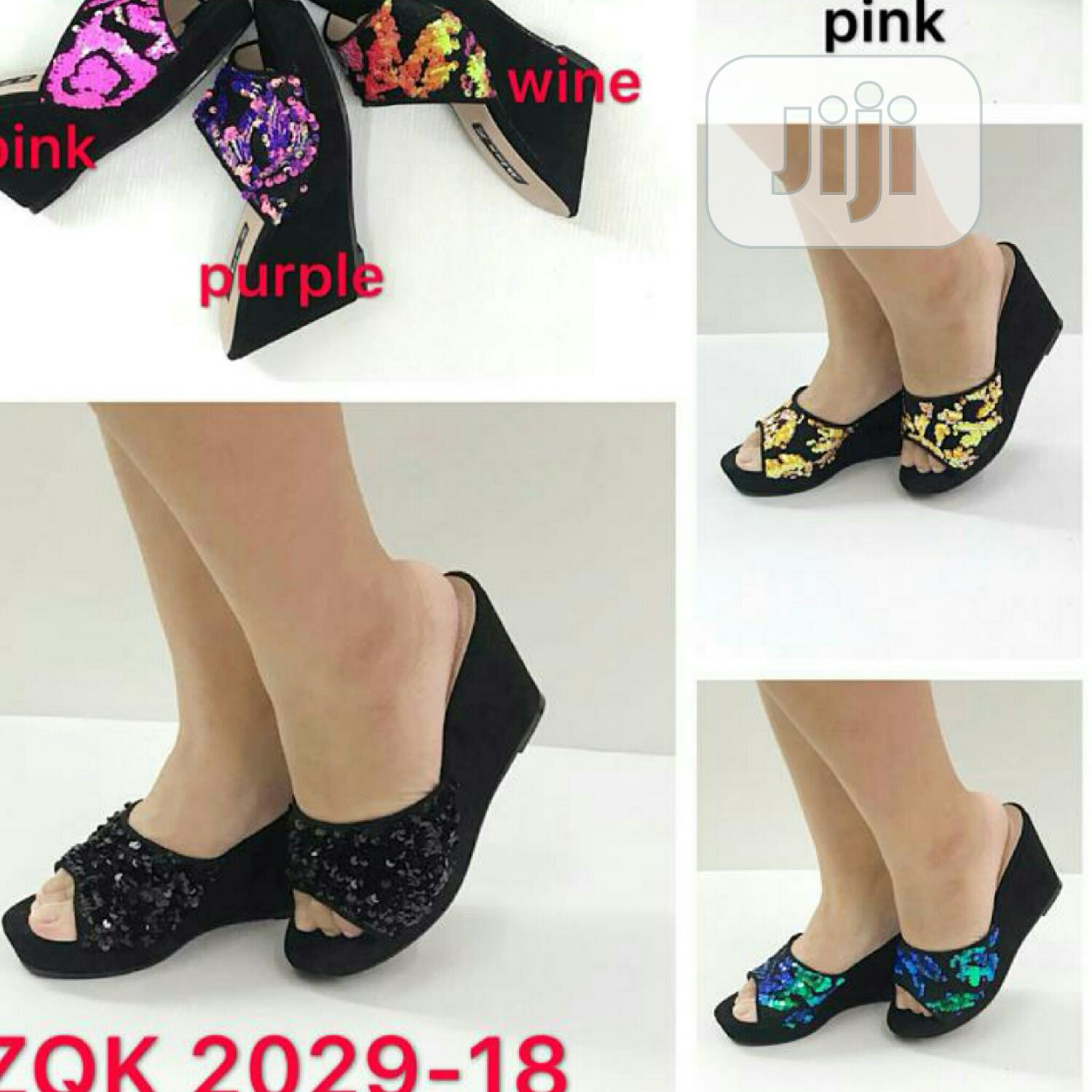 Tovivans Stylish Wedge Mules | Shoes for sale in Ikeja, Lagos State, Nigeria