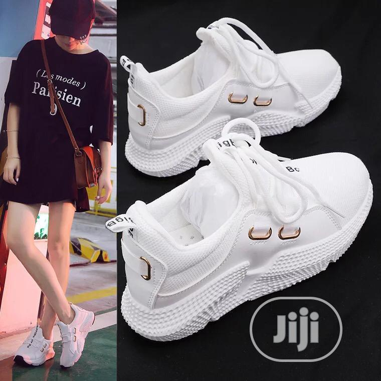 White Sneakers for Ladies/Women Available in Different Sizes | Shoes for sale in Ikeja, Lagos State, Nigeria