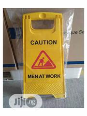 Foldable Two Sides Safety Sign Caution Men AT Work | Safety Equipment for sale in Lagos State, Ikeja