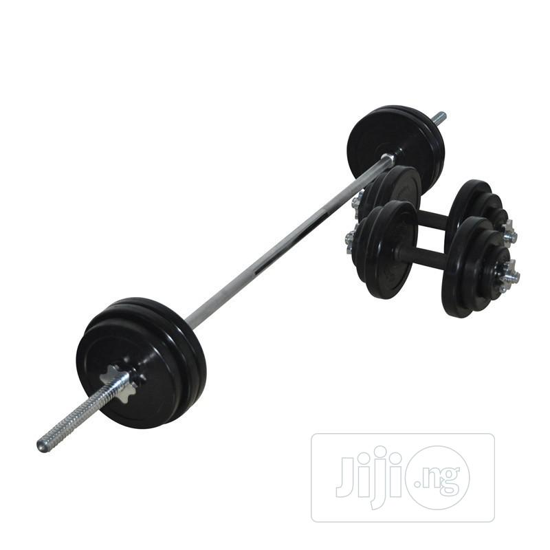 50kg Rubber Dumbbell KIT | Sports Equipment for sale in Amuwo-Odofin, Lagos State, Nigeria