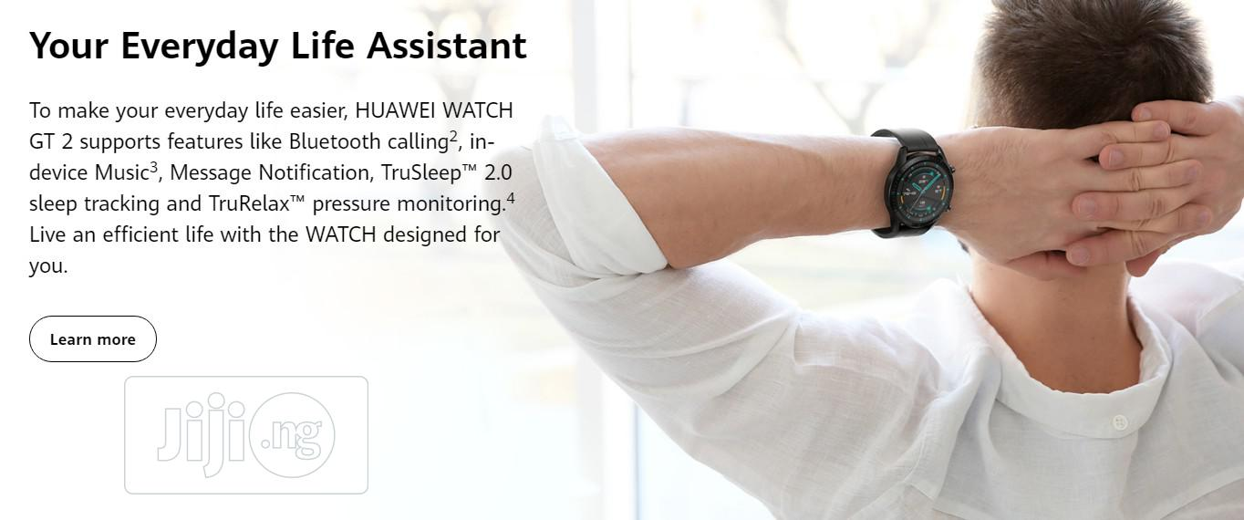 HUAWEI Watch GT 2 Smart Watch Black | Smart Watches & Trackers for sale in Ikeja, Lagos State, Nigeria
