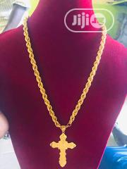 Pure 22karat Gold Chain With Cross Pendant Is Available | Jewelry for sale in Lagos State, Yaba