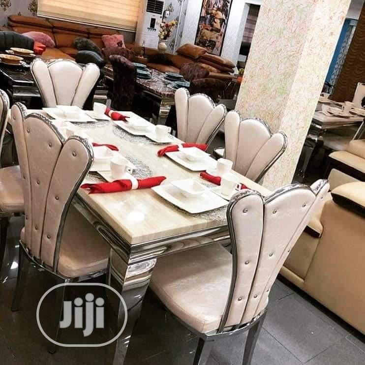 High Quality Turkey Marble Dining Table Set by 4seater