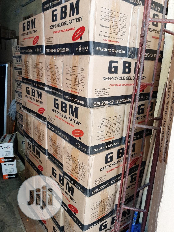 12V 200ah Gbm Solar Battery