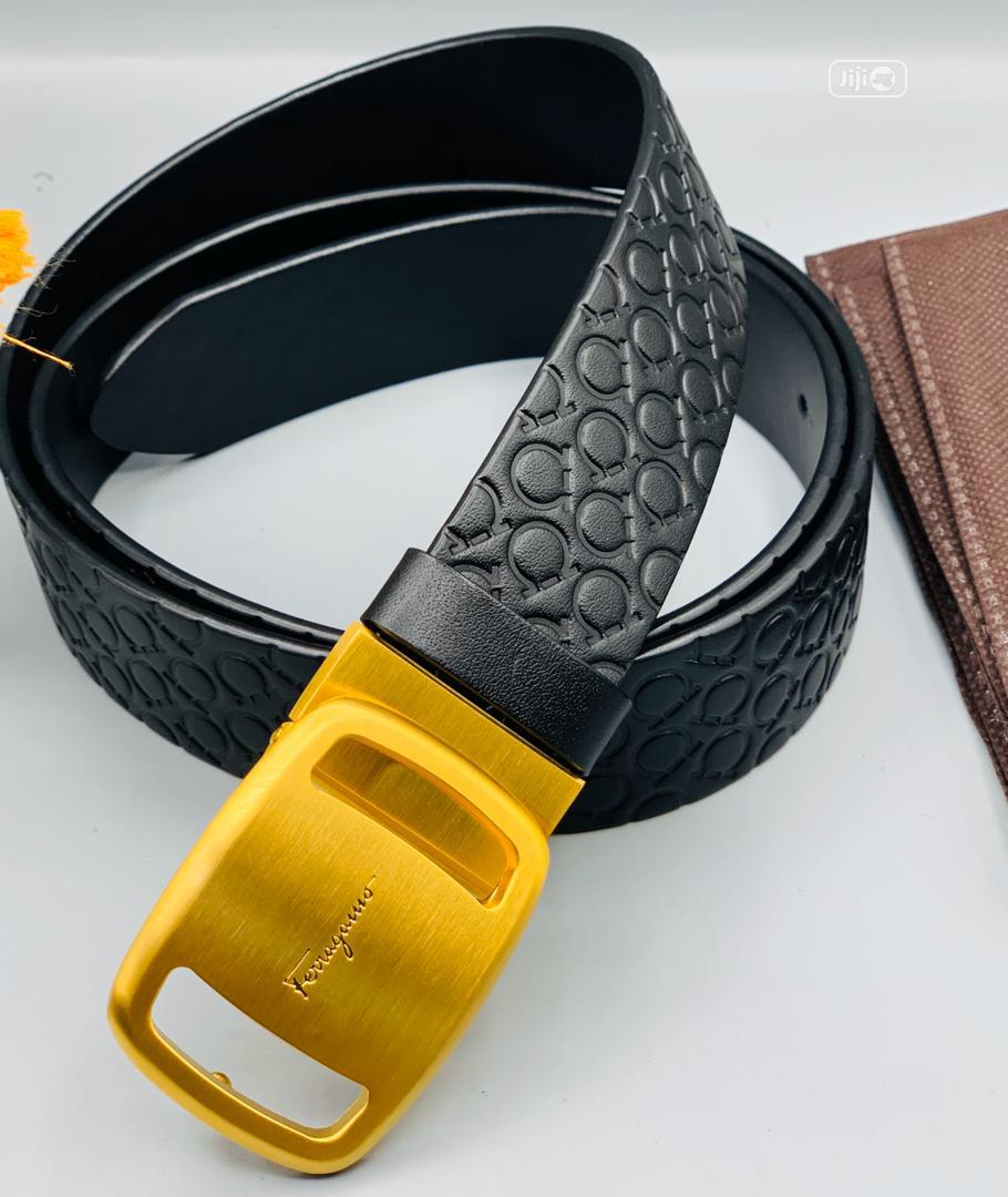 Ferragamo Leather Belt for Men's