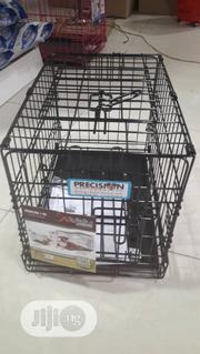Dog Cage (Collapsible Black Cage With Poo Tray Gor Puppy) | Pet's Accessories for sale in Lagos State, Alimosho