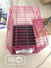"Dog Indoor Cage (Iron Pink House) 24"" by 18"" 