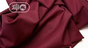 Wine Cotton Senator Fabric Material | Clothing for sale in Lagos State, Ikoyi