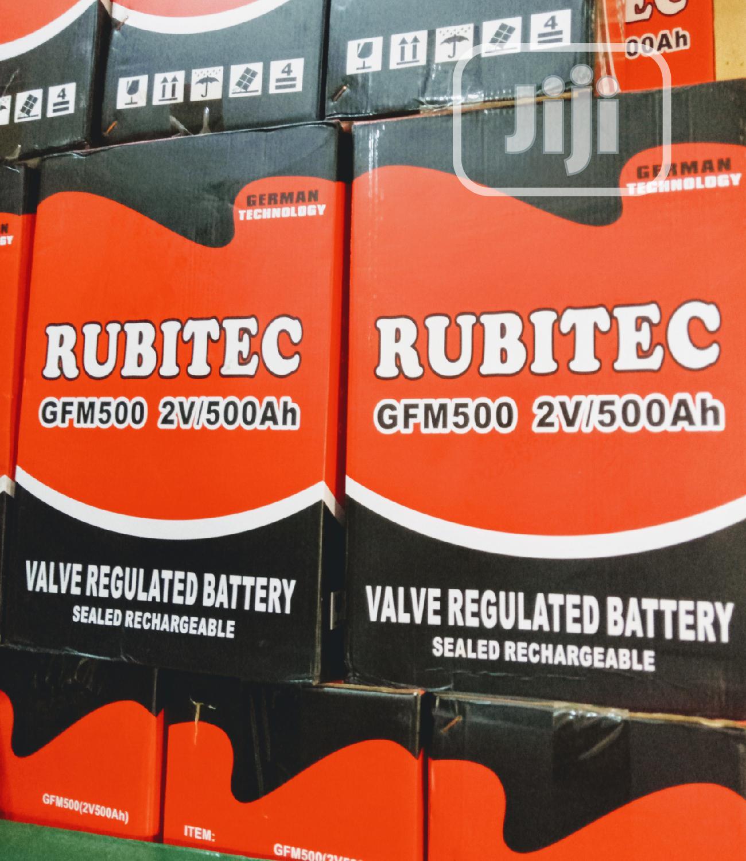 500ah 2v Rubitec Battery