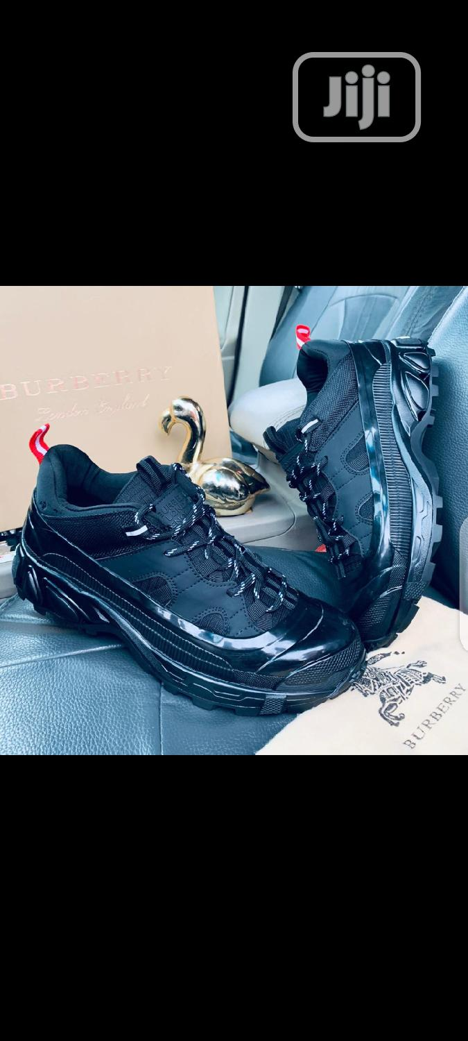 Black Burberry Sneakers | Shoes for sale in Lagos Island, Lagos State, Nigeria