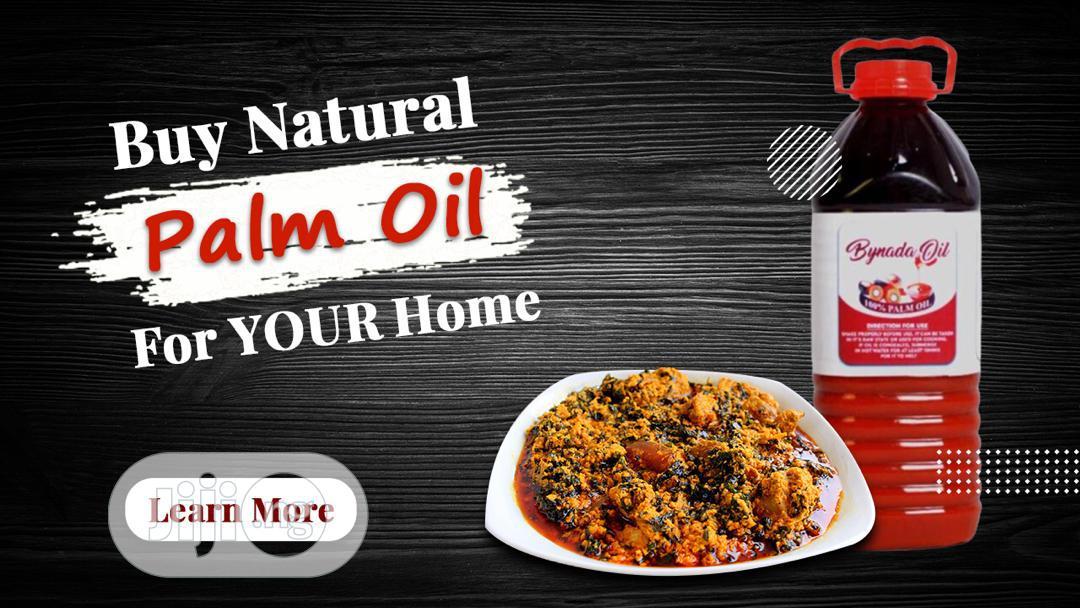 Bynada Natural Palm Oil 3 Liters 6 In 1