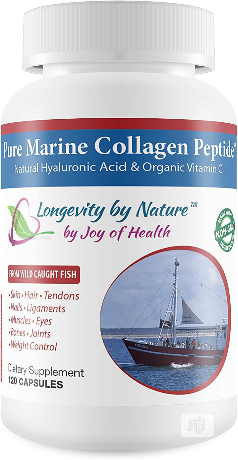 Joy of Health Pure Marine Collagen Peptide Capsules With Natural