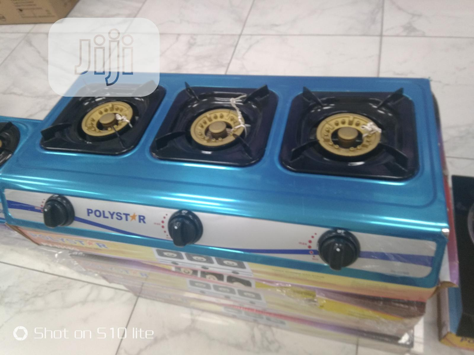 Archive: Polystar 3 Burner Table Gas Cooker With Stainless Steel Top Pv-8318g