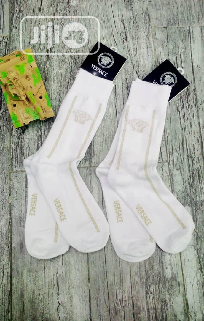 Original Designer Versace Socks Available In Designs   Clothing Accessories for sale in Lagos Island, Lagos State, Nigeria