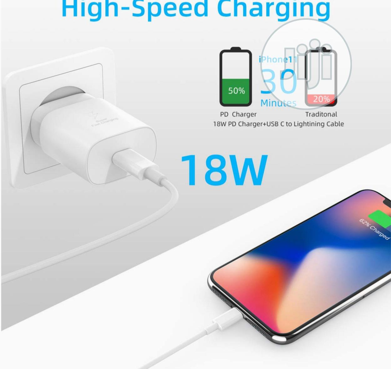 Fast PD Charger For iPhone 11 Pro Max With Type C To Lightning Cable | Accessories for Mobile Phones & Tablets for sale in Lekki Phase 1, Lagos State, Nigeria