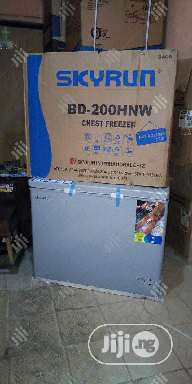 New Skyrun BD-200HNW Fast Freezing 200ltr With Warranty | Kitchen Appliances for sale in Ojo, Lagos State, Nigeria