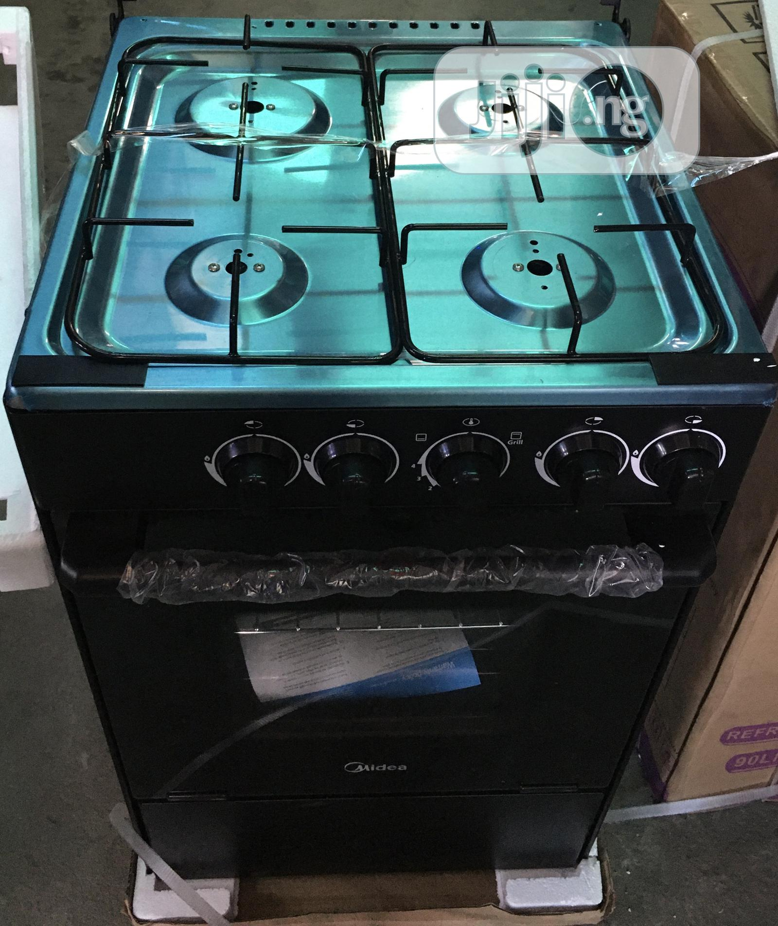 Midea 4burner Gas Cooker 2years Warranty | Kitchen Appliances for sale in Ojo, Lagos State, Nigeria