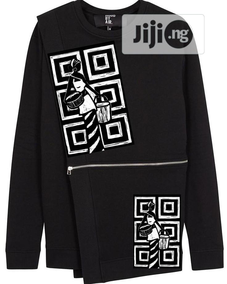 Archive: Sweat Shirt Made With Cotton Fabric and African Art Print