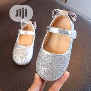 Girls Silver Bow Shoe | Children's Shoes for sale in Lagos State, Agboyi/Ketu