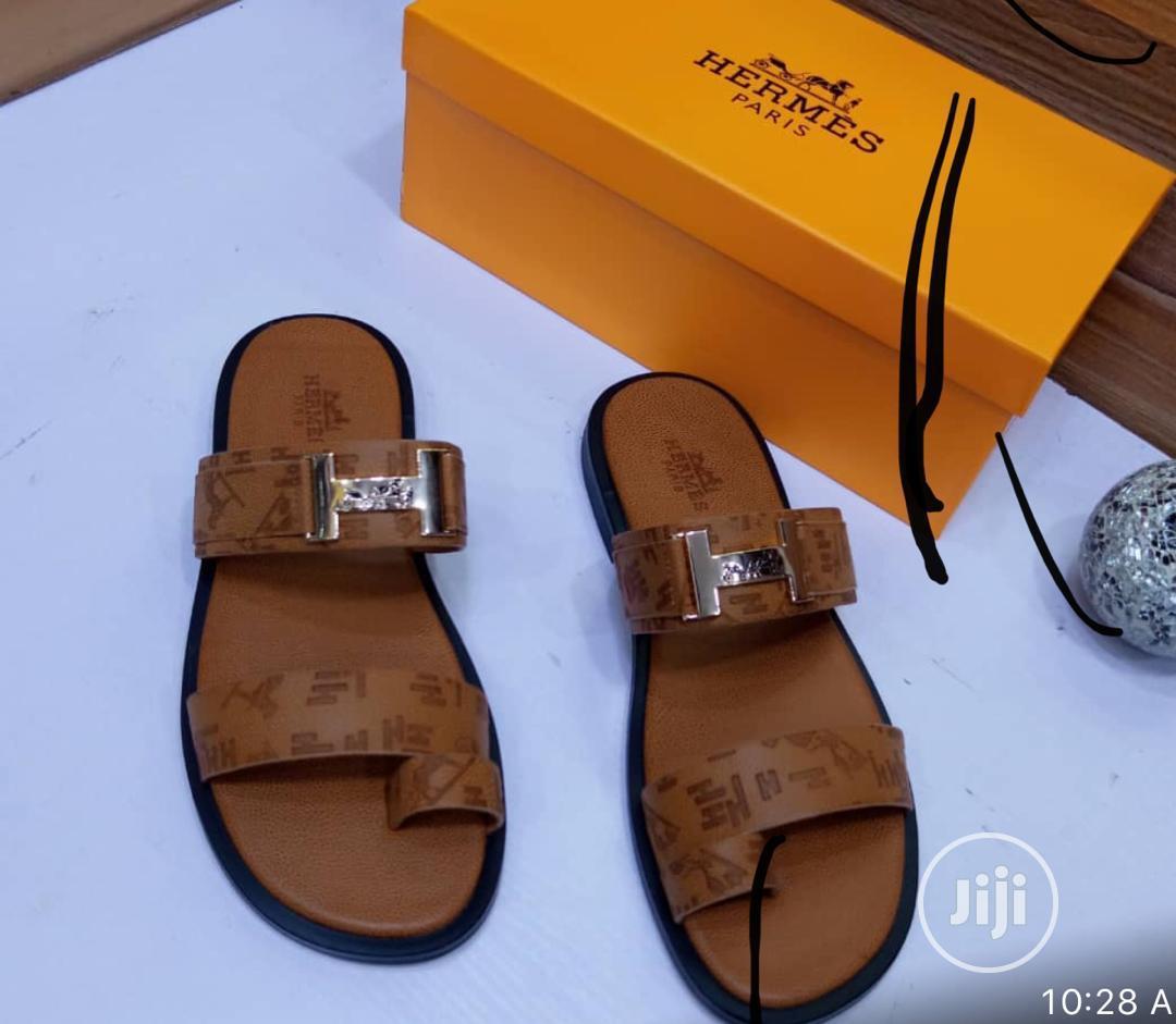 Hermes Palm Slippers