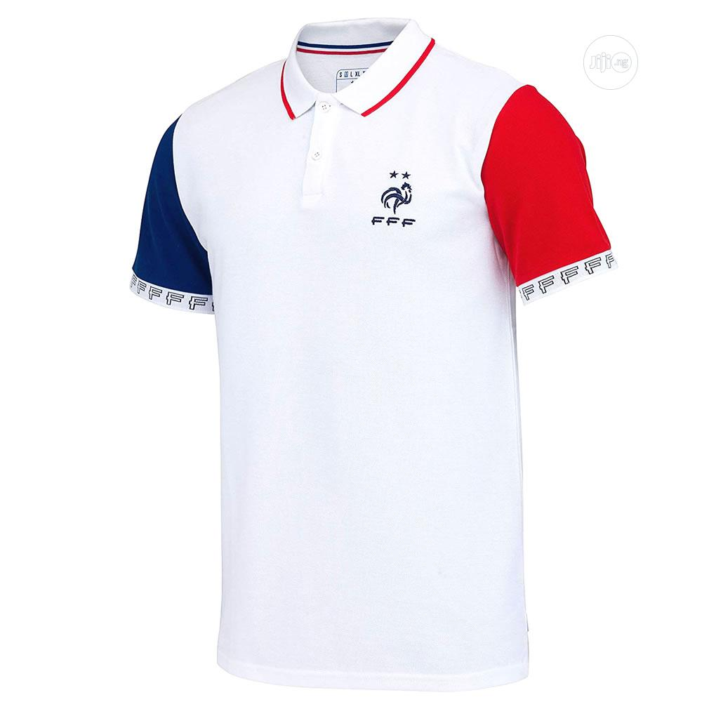 Official French Football Team '2 Stars' Men's Polo Shirt | Clothing for sale in Lagos Island, Lagos State, Nigeria