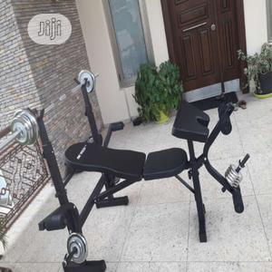 Bench Press Weight Bench With 50kg Weight   Sports Equipment for sale in Abuja (FCT) State, Jabi