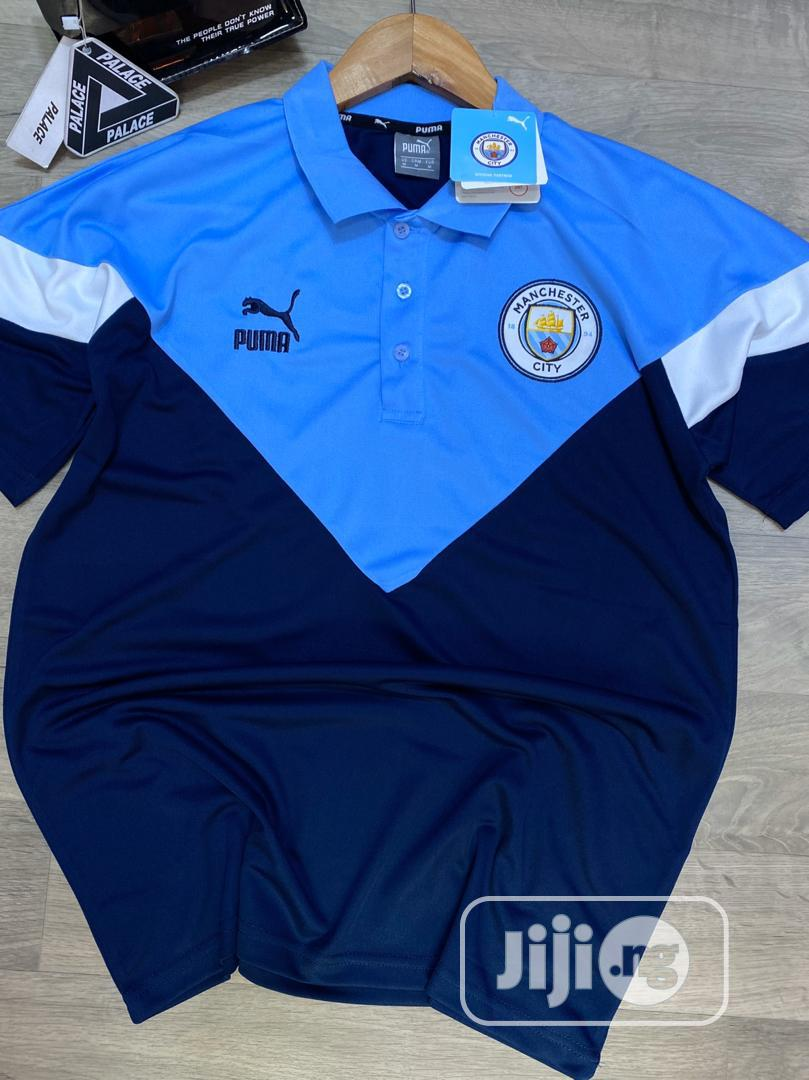 Manchester City Puma Iconic MCS Polo Shirt (Peacot) | Clothing for sale in Lagos Island, Lagos State, Nigeria