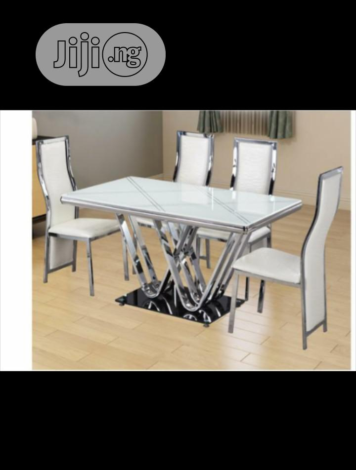 Glass Top Dining Table | Furniture for sale in Ikeja, Lagos State, Nigeria