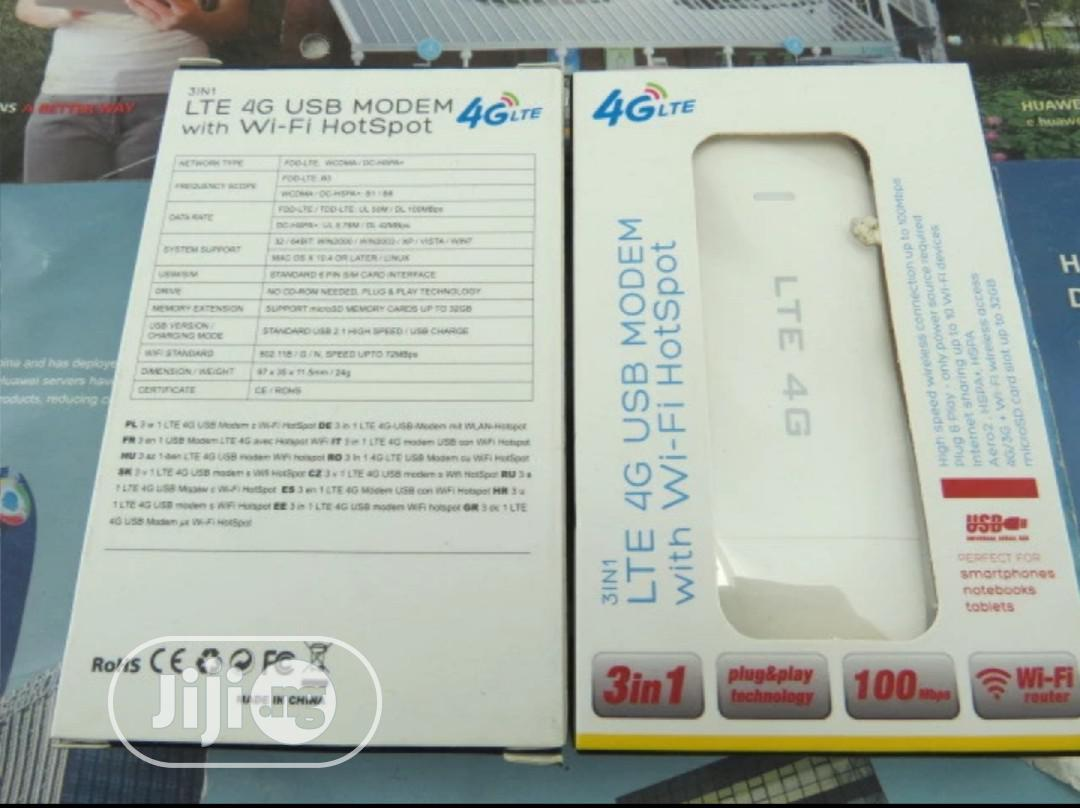 Universal 4G LTE USB Modem With Wi-fi Hotspot, Plug & Play   Networking Products for sale in Wuse, Abuja (FCT) State, Nigeria