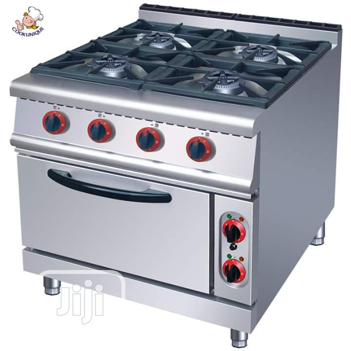 Gas Cooker 4burner With Oven Cabinet