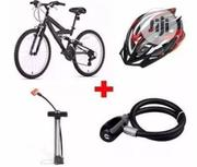Hitman Sports Bicycle/Hand Pump/Steel Wire Rope Bicyle Lock + Helmet | Sports Equipment for sale in Lagos State, Lagos Island