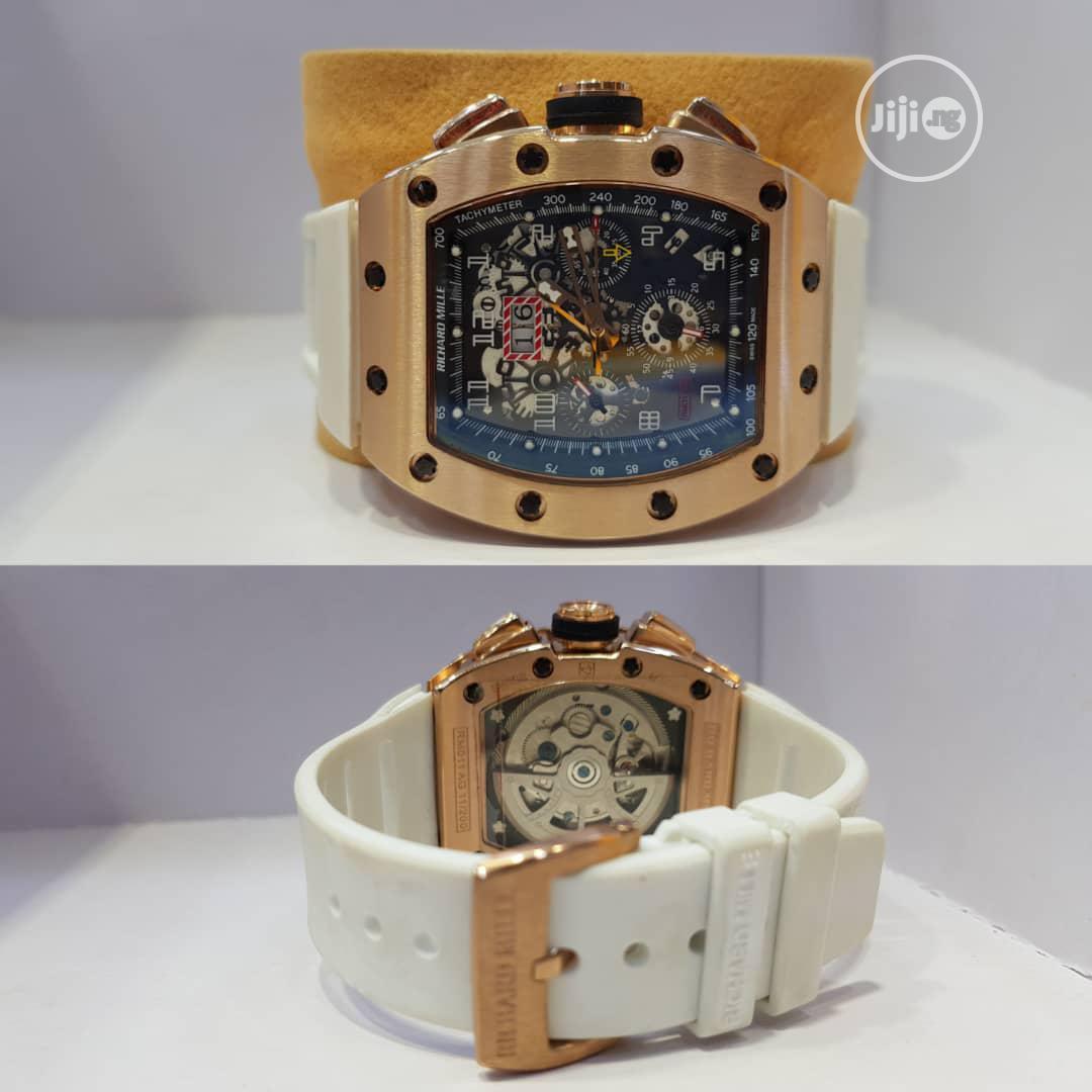 Executive White Richard Milli Wrist Watch