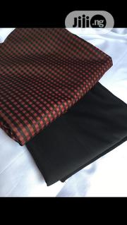 Brown Cotton Senator Fabric Material X2 FREE CUFFLINK | Clothing Accessories for sale in Lagos State, Ikoyi